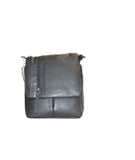 Black flap cover leather bag - leather-products-shop