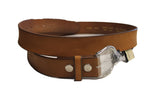 Light Brown leather belt - leather-products-shop