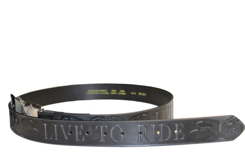 Live to ride leather belt - leather-products-shop