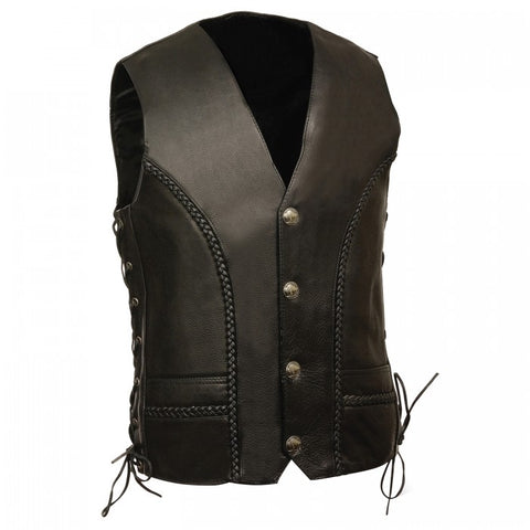 Braided Men Vest - leather-products-shop