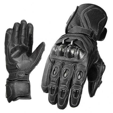 Black racing gloves - leather-products-shop
