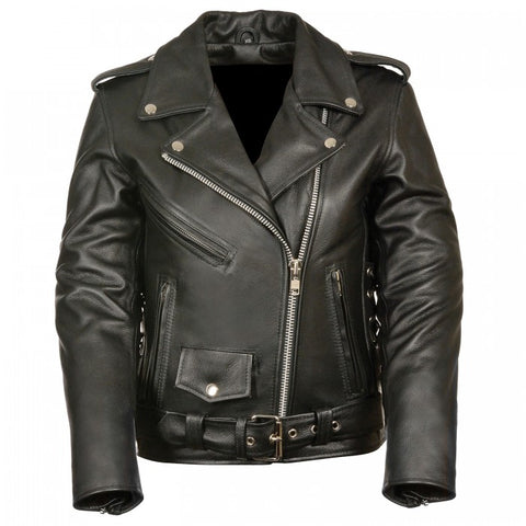 Classic Collar Men Leather Jacket - leather-products-shop