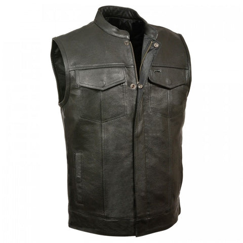 Half Jacket Men Vest - leather-products-shop