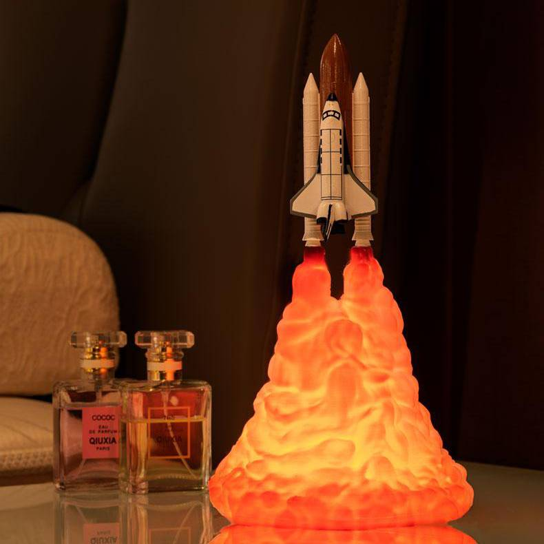 3D printed Space Shuttle Night Light Lamp | SafeLED™️ - shopWaltDisney.com