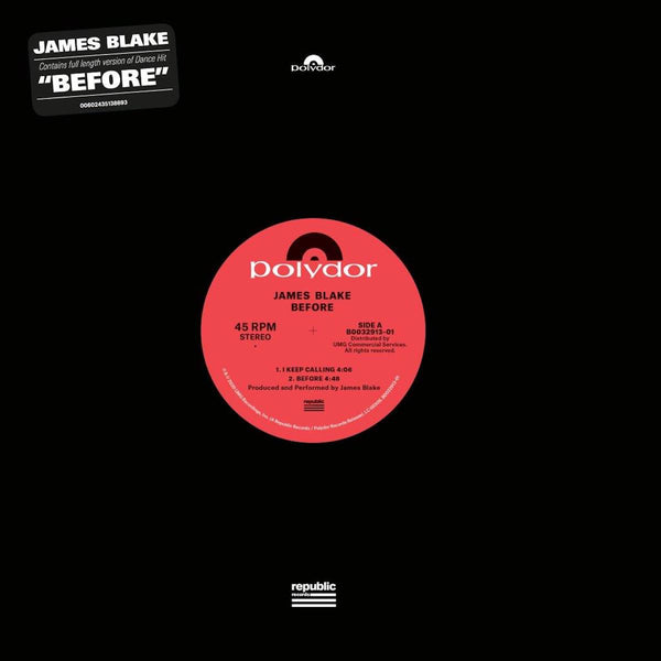 James Blake - Before EP
