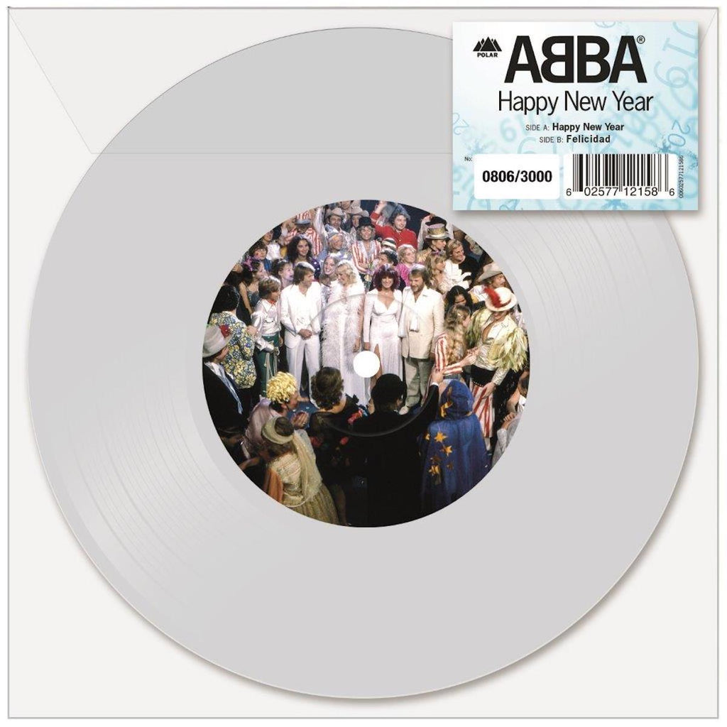 "ABBA - Happy New Year [2018 White 7"" Single]"