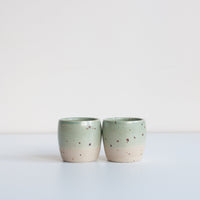 Dor & Tan - Ceramic Celadon & Speckle Espresso Cups