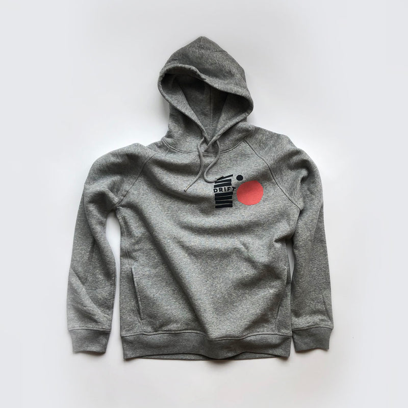 Drift Records - Stack Hoodie [Heather Grey]