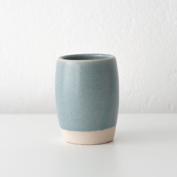 Dor & Tan - Linen Blue Ceramic Tumbler