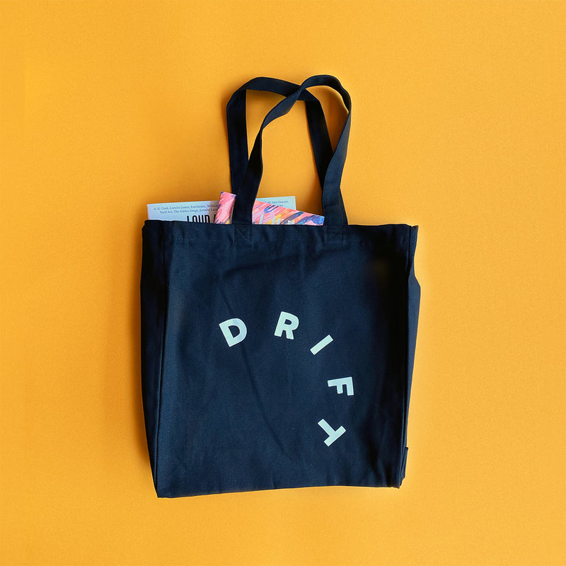 Drift Records - Heavyweight Cotton Loopy Tote