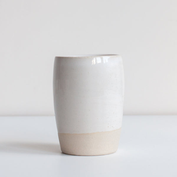 Dor & Tan - White Ceramic Tumbler