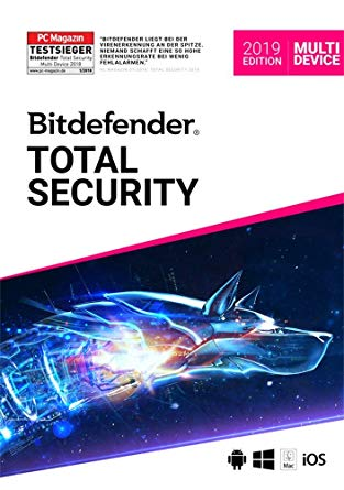 Bitdefender Total Securiy 2019 5 Devices 180 Days