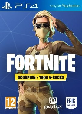 Playstation 4 Fortnite Scorpion + 1000 V-Bucks