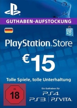 Playstation 4 - PSN 15 Euro