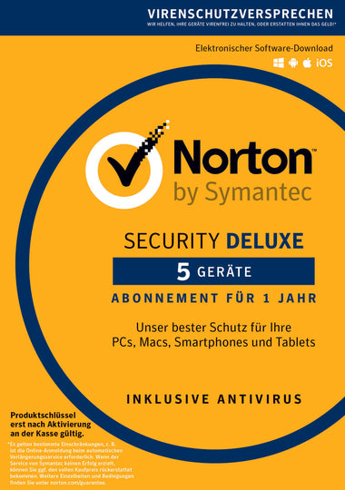 Norton Security Deluxe 5 Devices 2019 1 Year