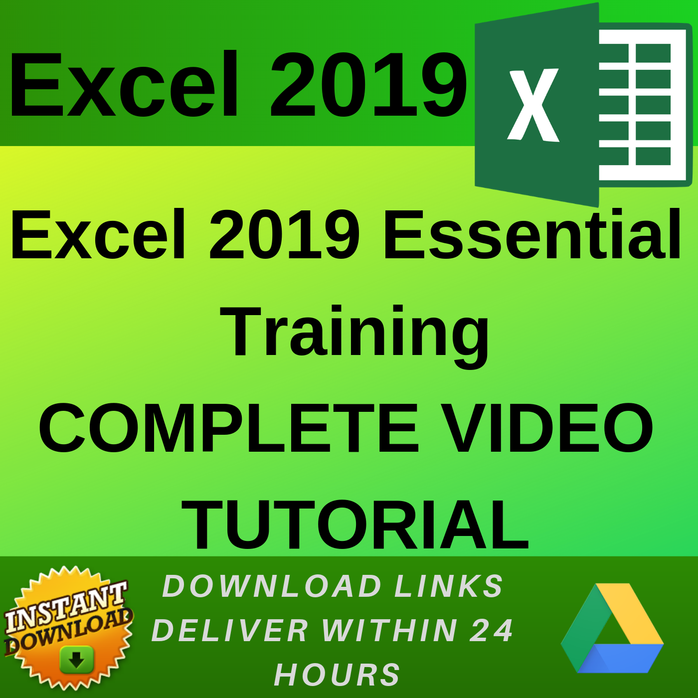 Excel 2019 - Video Training (Eng)