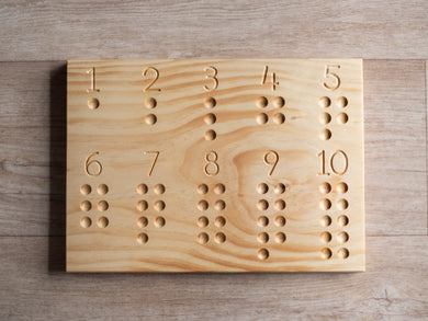 Counting board 1-10
