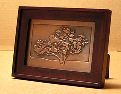 Small Framed Plaque - Oak Tree