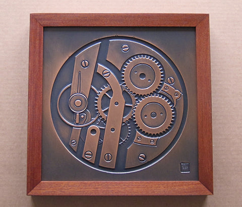Framed Plaque - Clockworks