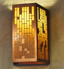Rectangular Grid Sconce - Display Model