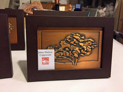 SALE! - Small framed oak tree plaques