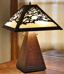 Landscape Table Lamp - With alternate shade