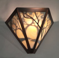 Triangular Art Nouveau Sconce with inner shadow