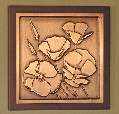 Framed Plaque - California Poppy