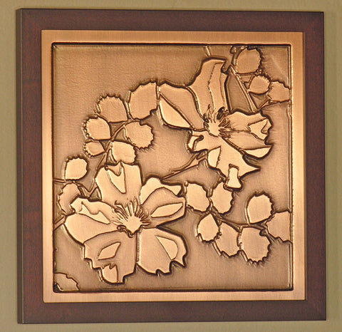 Framed Plaque - Wild Rose