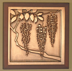 Framed Plaque - Wisteria
