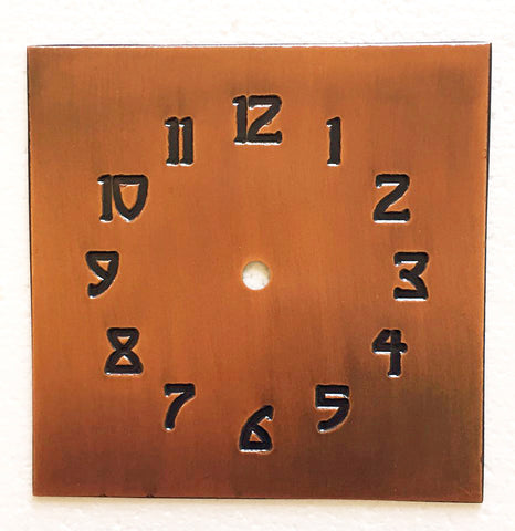 Clock Face - Craftsman Numbers