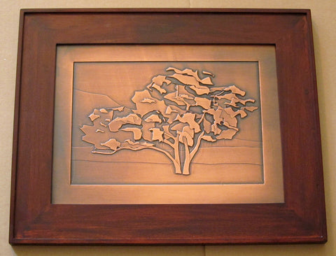 Etched Plaque - Tujunga Oak