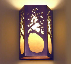 Rectangular Sconce - Tree