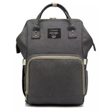 Load image into Gallery viewer, Lequeen Classic Baby Bag - Dark Grey