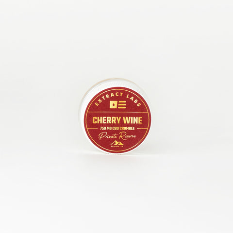 Extract Labs Cherry Wine Full Spectrum CBD Crumble - Alleviate Wellness