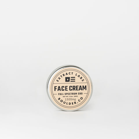 Extract Labs Full Spectrum CBD Face Cream - Alleviate Wellness