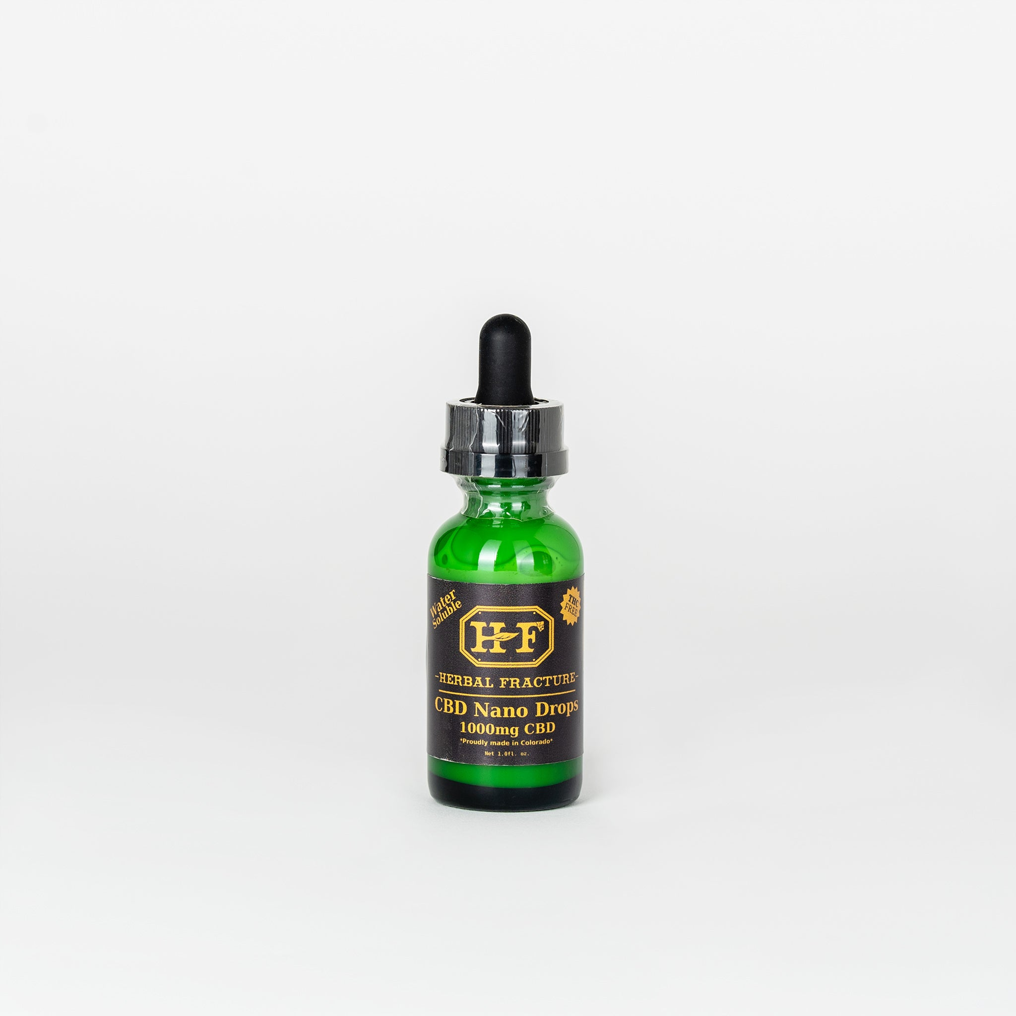Herbal Fracture CBD Isolate Nano Drops - Alleviate Wellness