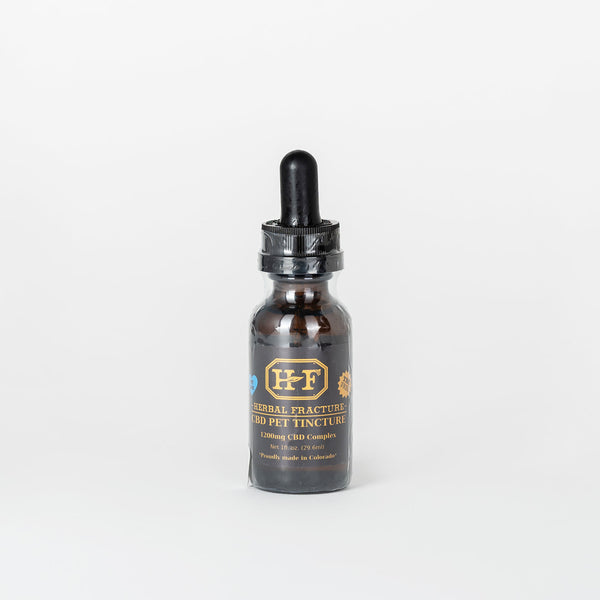 Herbal Fracture CBD Isolate Pet Tincture - Alleviate Wellness
