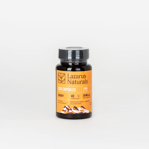 Lazarus Naturals CBD Isolate Energy Blend Capsules 25mg - Alleviate Wellness