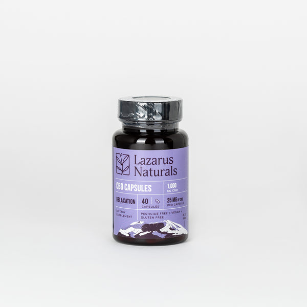 Lazarus Naturals CBD Isolate Relaxation Blend Capsules 25mg - Alleviate Wellness