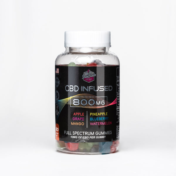Sun State Hemp CBD Infused Full Spectrum Gummy Bears - Alleviate Wellness