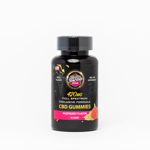 Sun State Hemp Full Spectrum Exclusive Formula Raspberry Gummies - Alleviate Wellness