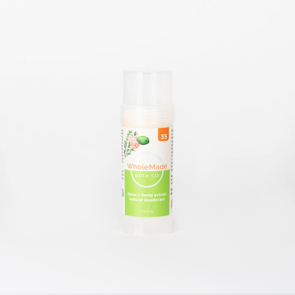 WholeMade Hemp Infused Natural Deodorant - Alleviate Wellness