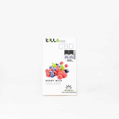 Hempzilla Zilla Full Spectrum CBD Vape Pods - Alleviate Wellness