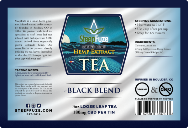 SteepFuze Loose Leaf Hemp Extract Tea - Alleviate Wellness