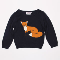 Fox Sweater - Dark Blue