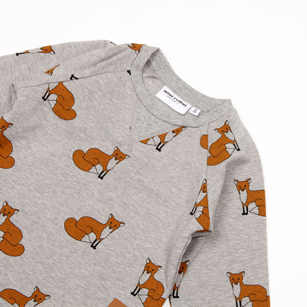 Fox Sweatshirt - Grey Melange