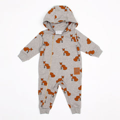 Fox Onesie - Grey Melange