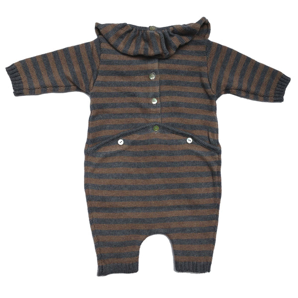 Beetlejuice Romper - Grey Stripe