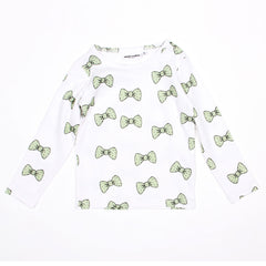Bow Long Sleeve Tee - Light Green